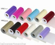 "6"" Tulle fabric 25yd long Wedding 13 Colours Available"